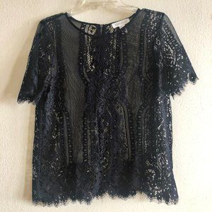NWOT Forever 21 Black Lace Top - Sz. M